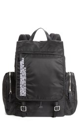 Calvin Klein 205W39nyc Nylon Flap Backpack Black