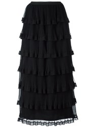 Red Valentino Layered Ruffled Skirt Black