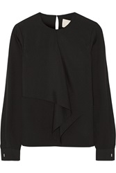 Jason Wu Draped Hammered Silk Top