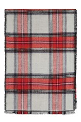 Topshop Red And White Check Scarf Red