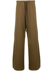 Lost And Found Rooms Wide Leg Side Stripe Joggers Brown