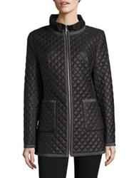 Jane Post Quilted Satin Jacket Black