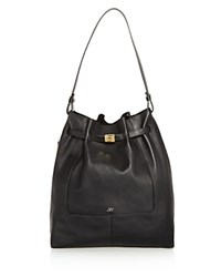 Jason Wu Softy Leather Shoulder Bag Black