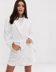 Missguided Heart Robe White
