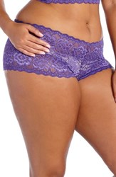 Deesse Lingerie By Addition Elle Plus Size Women's Lace Boyshorts Purple