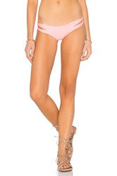Luli Fama Cosita Buena Reversible Zig Zag Open Side Moderate Bottom Pink