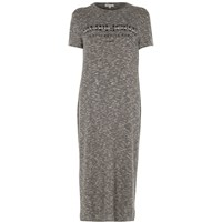 River Island Womens Grey 'Simplicite' Print T Shirt Maxi Dress