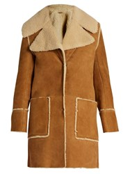Mih Jeans Fairport Shearling Coat Tan