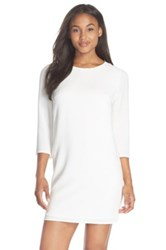 Felicity And Coco Textured Shift Dress White