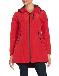Halifax Traders Hooded Raincoat Red