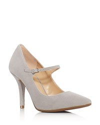 Michael Michael Kors Claire Mary Jane High Heel Pumps Pearl Gray