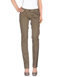 Daniele Alessandrini Trousers Casual Trousers Women Beige