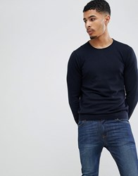 Celio Knitted Jumper In Cashmere Blend Navy