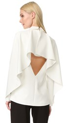 Edit Cape Back Top With Collar White