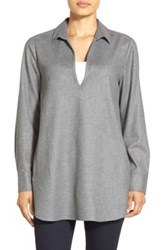 Nordstrom Flannel Tunic Gray