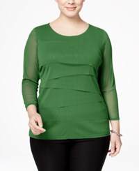 Alfani Plus Size Tiered Top Only At Macy's Willow Bough