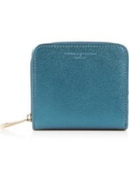 Aspinal Of London Continental Mini Wallet Peacock Blue