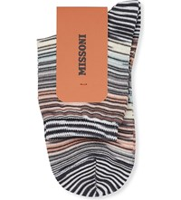 Missoni Short Multi Striped Socks Grey Stripe 004
