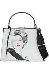 Michael Kors Collection Woman Printed Leather Shoulder Bag White