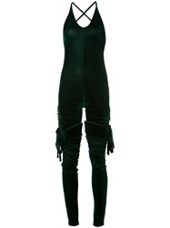 Y Project Segmented Jumpsuit Women Polyester Spandex Elastane 40 Green