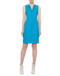 Akris Reversible Sleeveless Zip Front Sheath Dress