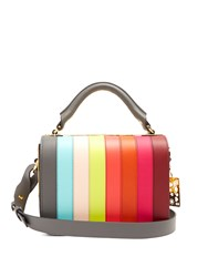 Sophie Hulme Finsbury Striped Leather Bag Multi
