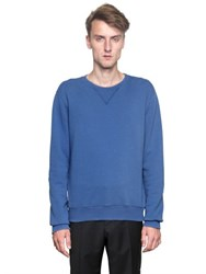 Maison Martin Margiela Leather Elbow Patches Cotton Sweatshirt