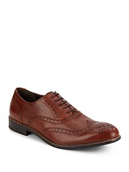 Kenneth Cole Bee Ming Leather Oxfords Cognac