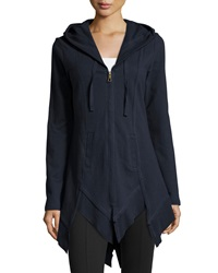 Xcvi Katarina Hooded Zip Front Cardigan Navy