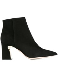 Sebastian Sculpted Heel Ankle Boots Black