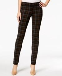 Kut From The Kloth Diana Plaid Skinny Jeans Brown Black