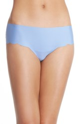 Women's Halogen 'No Show' Scalloped Hipster Briefs Blue Hydrangea