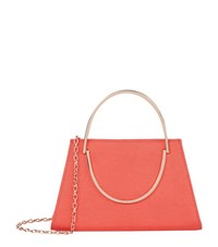 Ted Baker Rosie Metal Handle Evening Clutch Female Orange