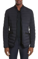 Armani Collezioni Quilted Down Jacket Blue