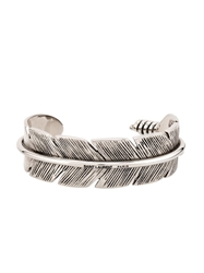 Saint Laurent Feather Sterling Silver Bracelet