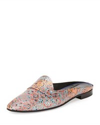 Pierre Hardy Jacno Printed Leather Loafer Mule Multi Multi Colors