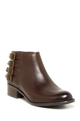 Franco Sarto Cyan Leather Ankle Bootie Wide Width Available Brown