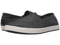 Toms Avalon Slip On Black Chambray Men's Slip On Shoes