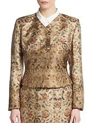 Pauw Printed Silk Asymmetrical Jacket