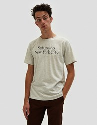 Saturdays Surf Nyc Miller Standard S S Tee Natural Heather