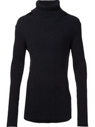 Ann Demeulemeester Turtleneck Jumper Black