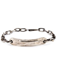 Henson Distressed Id Bracelet Metallic