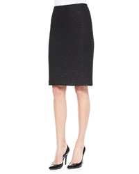 St. John Sparkle Texture Knit Pencil Skirt