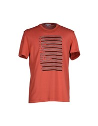 Gianfranco Ferre Gf Ferre' Topwear T Shirts Men Brick Red