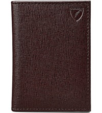 Aspinal Of London Folded Leather Credit Card Case Brown