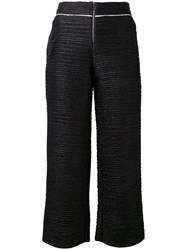 Aviu Cropped Trousers Women Cotton Polyester Spandex Elastane Polyimide 42 Black