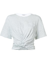 Alexander Wang T By Ruched Detail T Shirt Grey