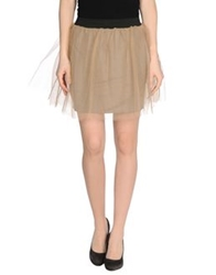 Minimal Mini Skirts Beige
