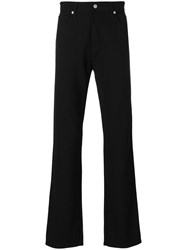 Armani Jeans Straight Leg Trousers Men Polyester Spandex Elastane Viscose 32 Black