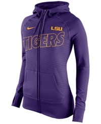 Nike Women's Lsu Tigers Performance Full Zip Hoodie Purple